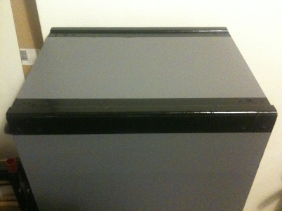 Pedestal end with new black detailing and moulding