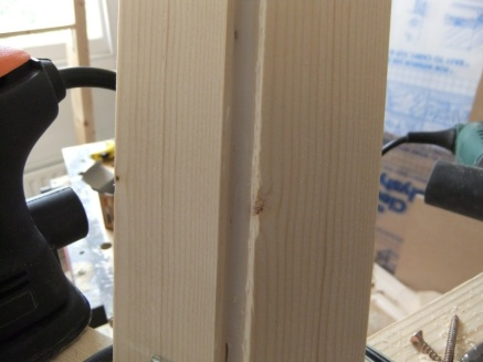 The window post, freshly glued