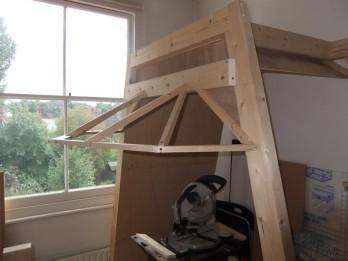 New upper frame installed, lower frame removed