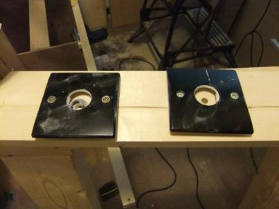 Electrical blanking plates with 30mm holes cut