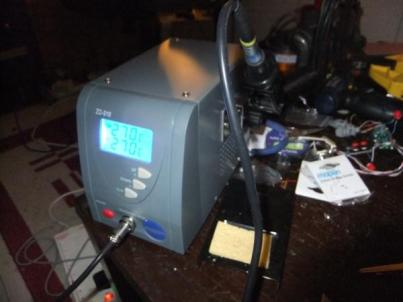 My lovely new temp-controlled solder-station