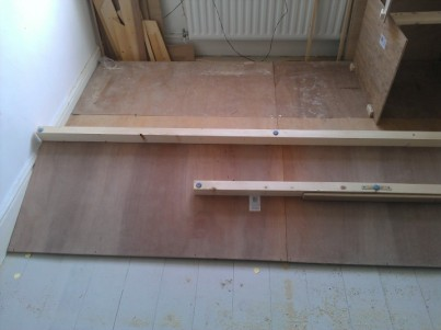 The underfloor frame is visible here