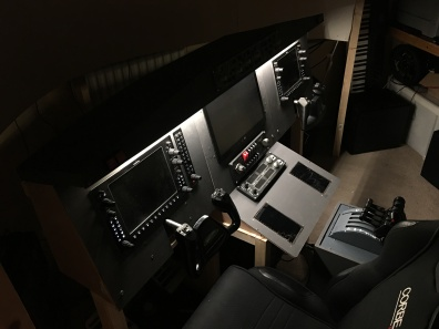 The completed console with lighting